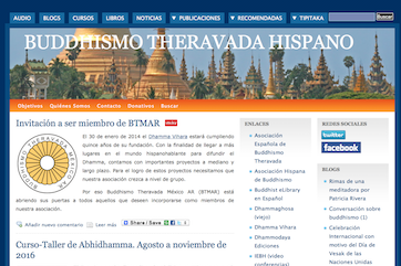 Buddhismo Theravada Hispano - Sitio anterior